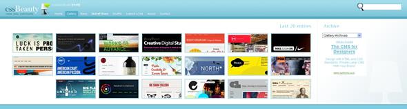 Galeries de disseny web CSS per a inspirar-se