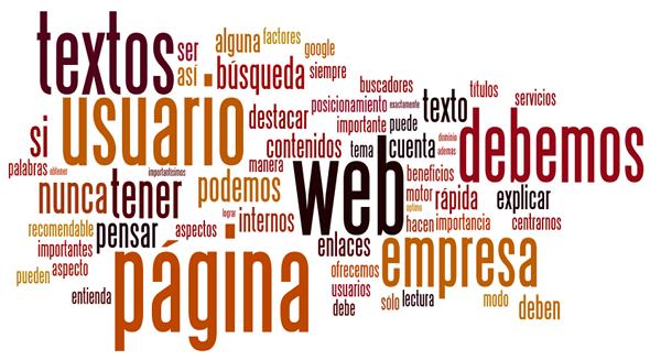 Com crear els continguts d'una pàgina web?