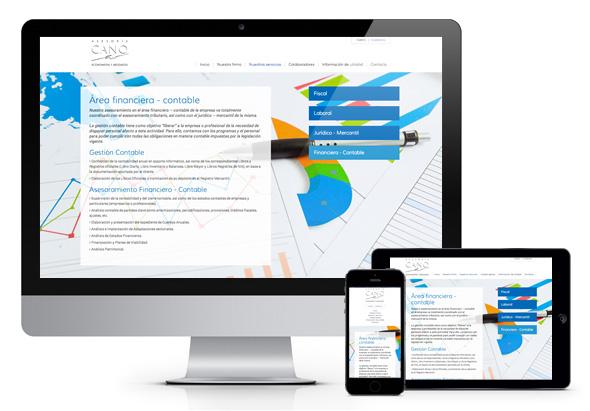 Pàgina web responsiva per a l'Assessoria Cano
