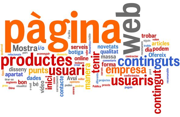 Quins continguts ha de tenir una pàgina web?