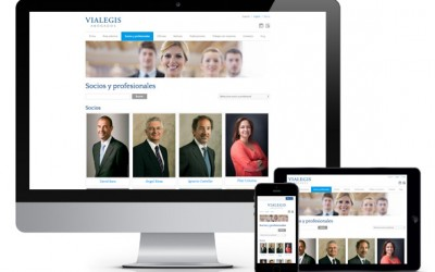 Página web responsiva para Vialegis