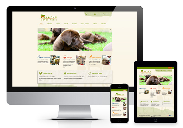 Pàgina web responsiva per a UETUS Veterinaris