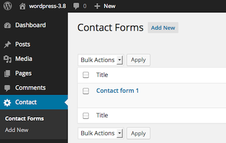 Plugin de WordPress para formularios: Contact Form 7