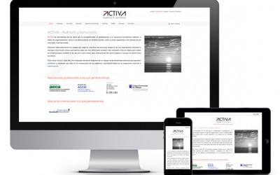 Pàgina web responsiva per a l'auditoria i consultoria ACTIVA