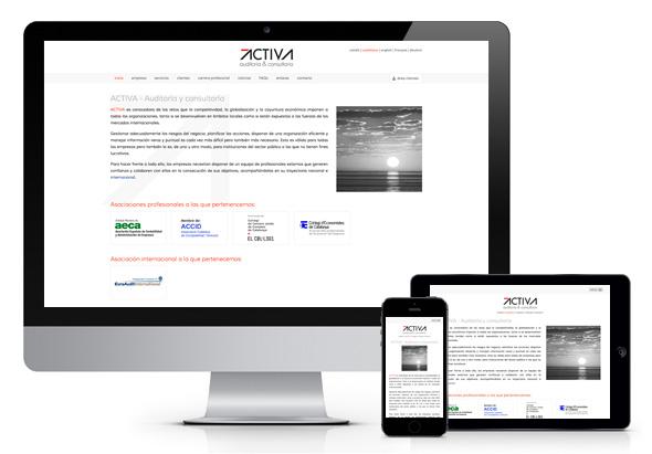 Página web responsiva para la auditoría y consultoría ACTIVA