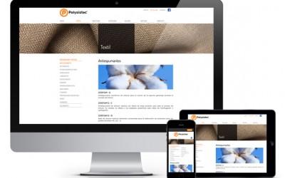 Pàgina web responsiva per a Polysistec
