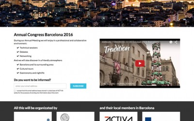 Microsite i vídeo per a Annual Congress Barcelona 2016