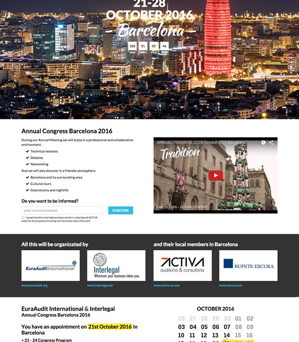 Microsite i vídeo per a Annual Congress Barcelona 2016